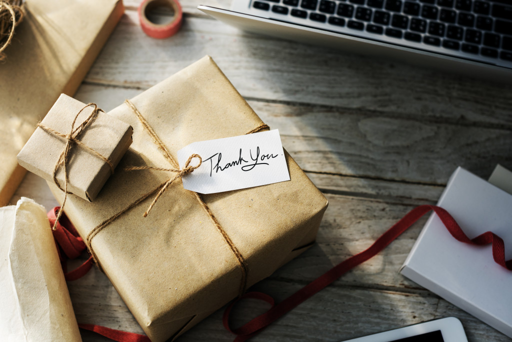 gifts on a desk